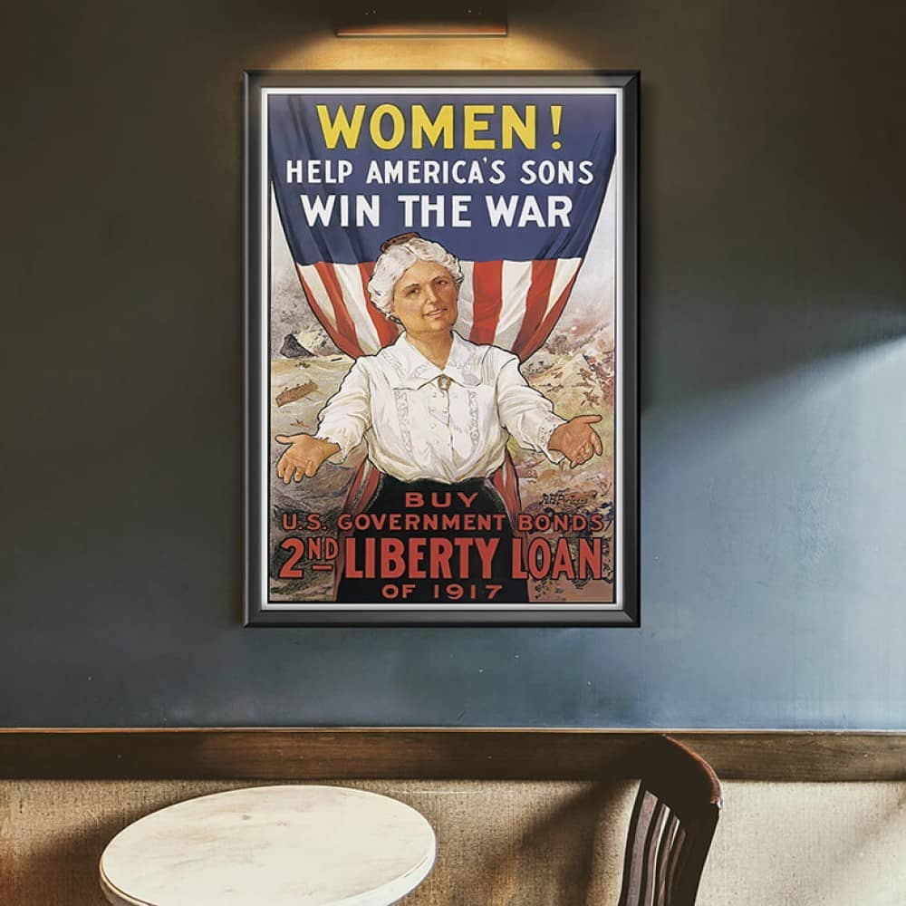 kobiety na amerykańskim plakacie propagandowym