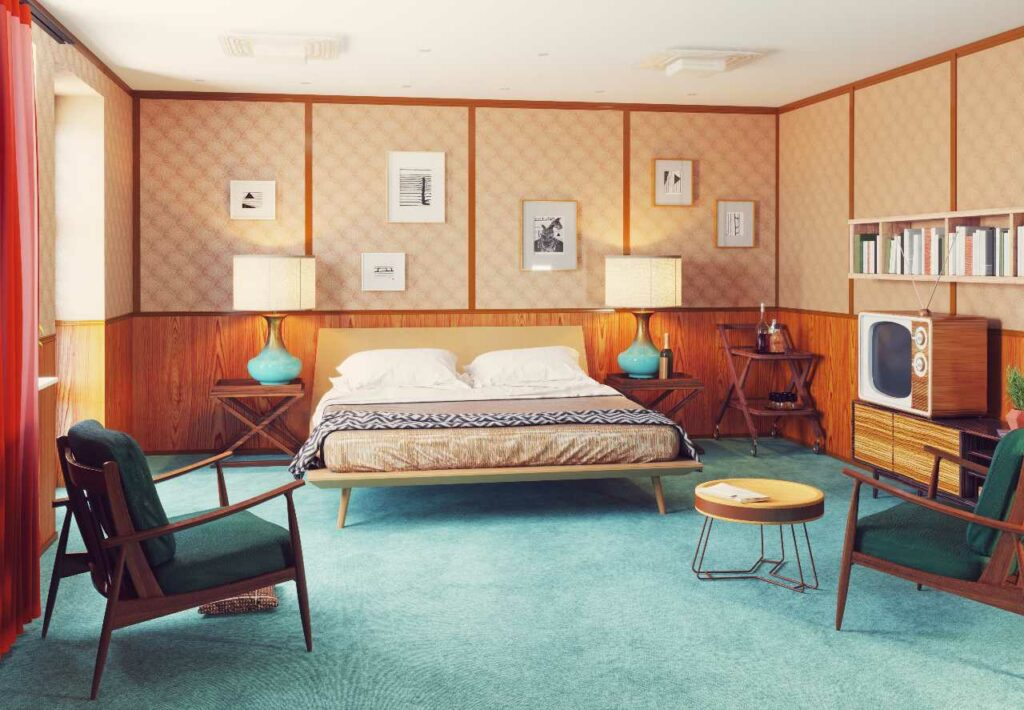 Styl vintage w sypialni